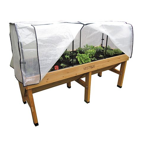 Medium Greenhouse Frame and Cover for Classic Raised Garden Bed