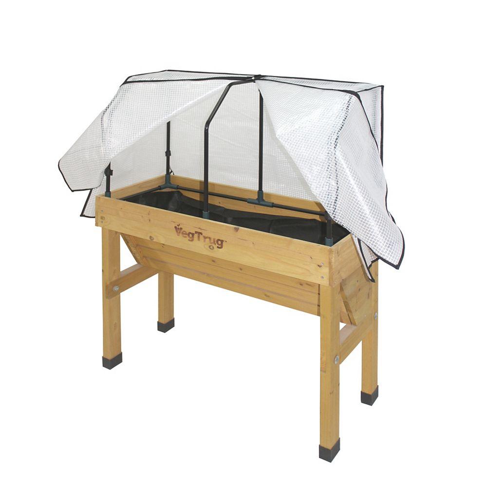 VegTrug Small Greenhouse Frame and Cover for Wall Hugger Raised Garden Bed