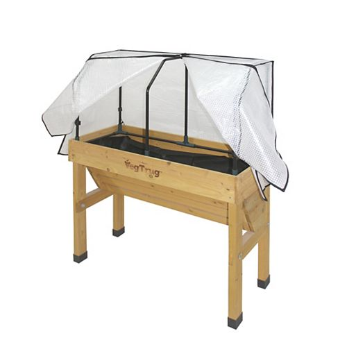 Small Greenhouse Frame and Cover for Wall Hugger Raised Garden Bed