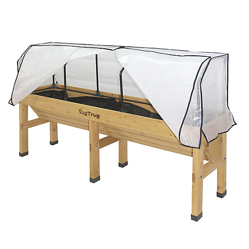 Medium Greenhouse Frame and Cover for Wall Hugger Raised Garden Bed