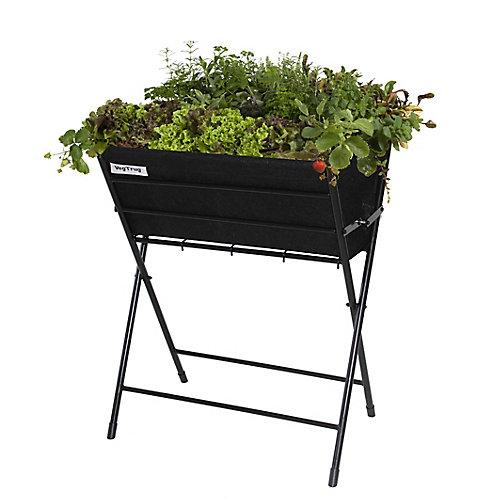 Classic Poppy Foldable Raised Garden Planter in Black