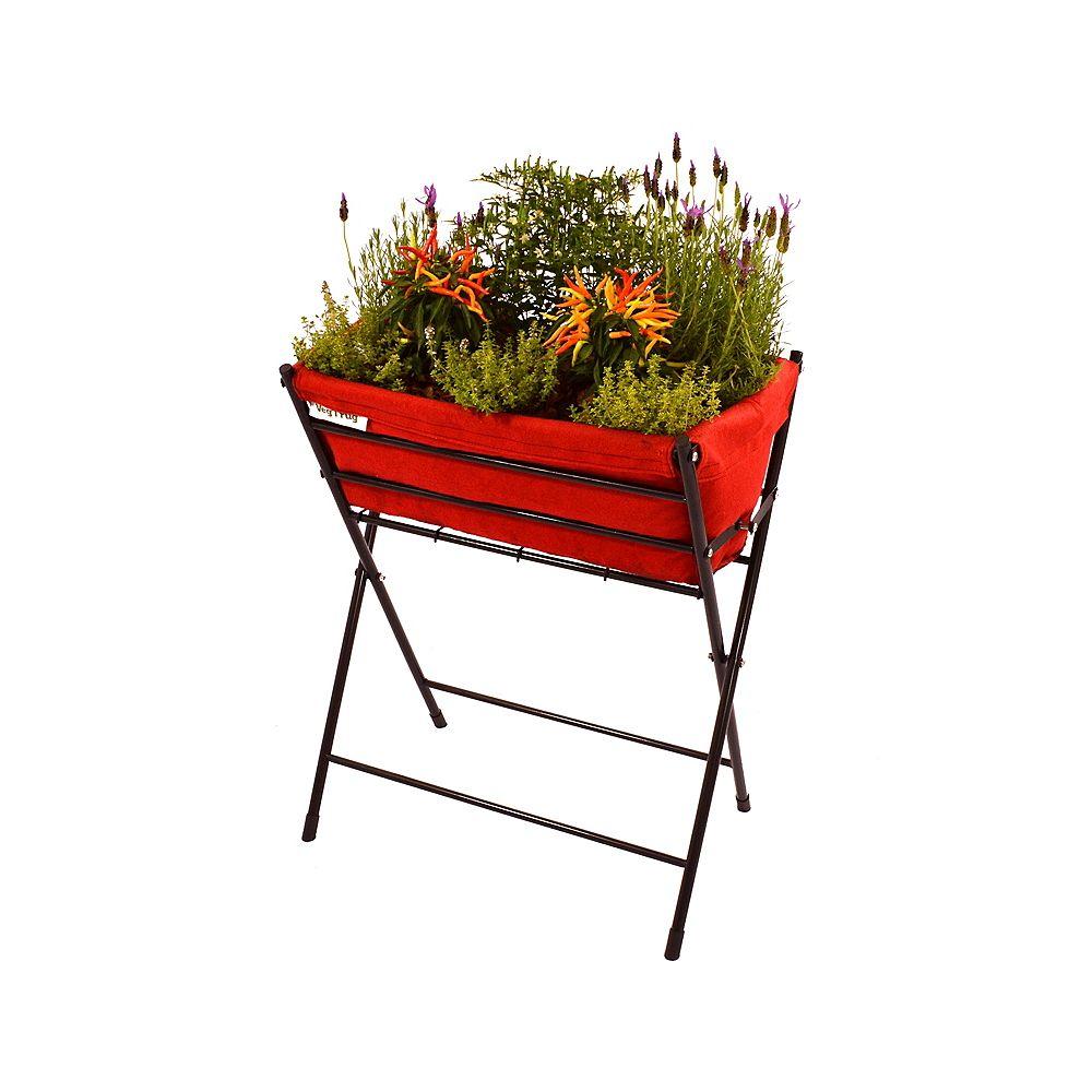 VegTrug Classic Poppy Foldable Raised Garden Planter - Red