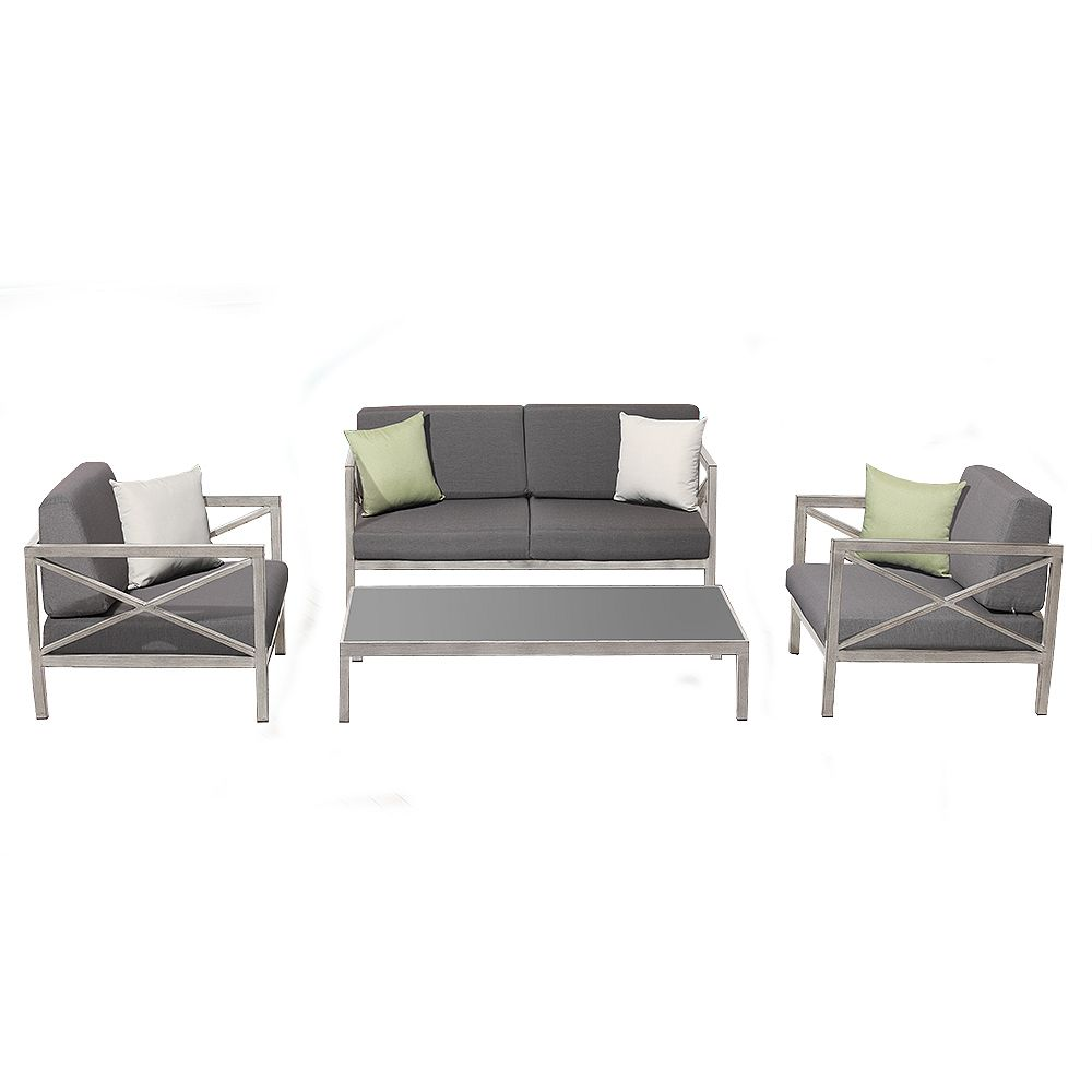 Ove Decors Pasadena 4-Piece Patio Conversation Set
