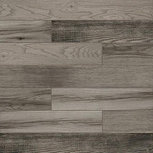 Belleterre Light Grey 4-inch x 28-inch Glazed Porcelain Floor and Wall Tile