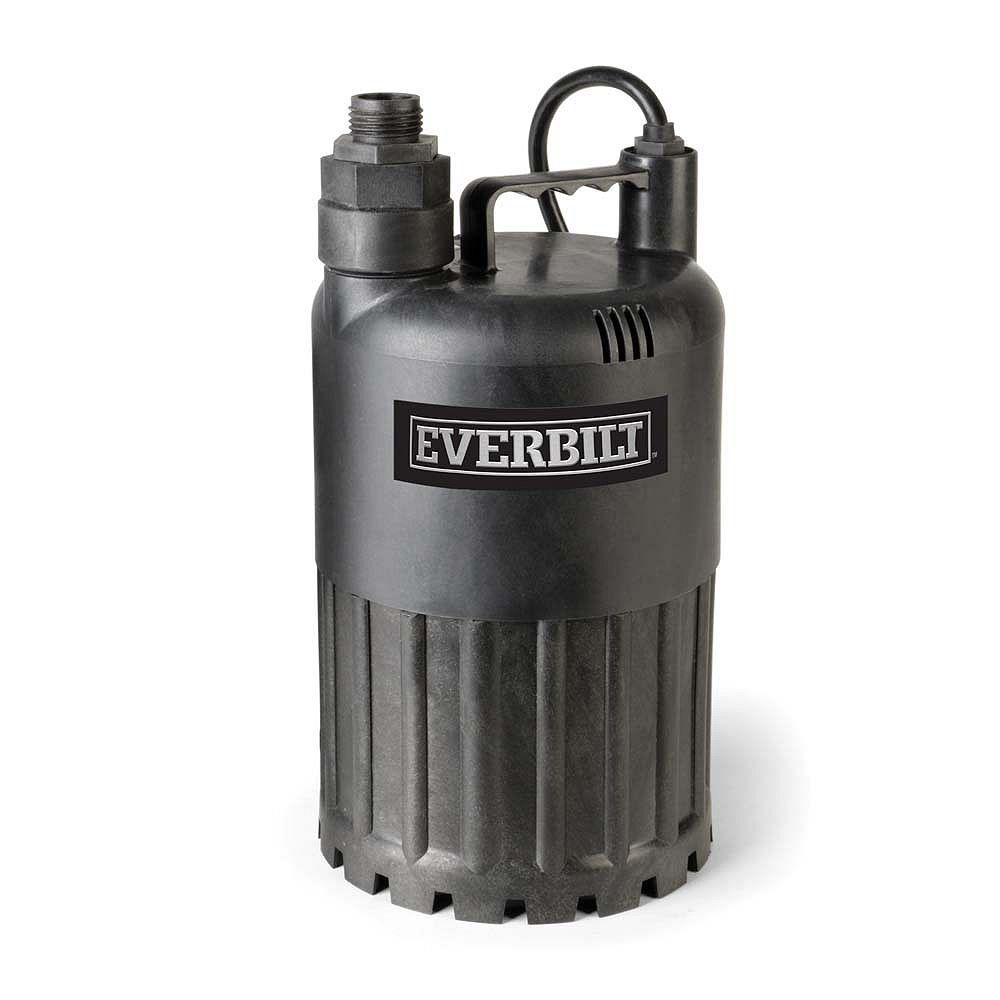 Everbilt Pompe utilitaire submersible, 1/2 HP