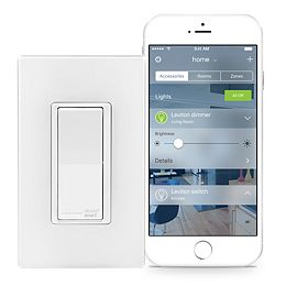 Switch with HomeKit Technology in White (Screwless Wallplate Included)