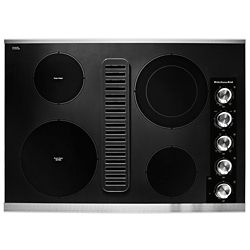 KitchenAid 30-inch Electric Downdraft Cooktop with 4 Elements in Stainless Steel
