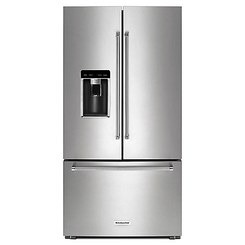 36-inch W 23.8 cu. ft. French Door Refrigerator in PrintShield Stainless Steel, Counter Depth