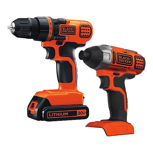20V MAX Lithium-Ion Cordless Drill/Driver and Impact Driver Combo Kit (2-Tool) with 1.5Ah Battery and Charger