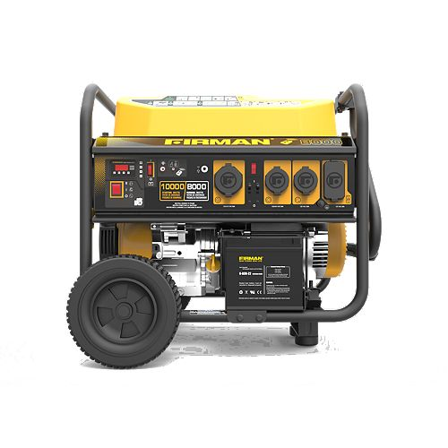 10000/8000 Watt 120/240V 30/50A Remote Start Gas Portable Generator cETL Certified w/ Wheel Kit