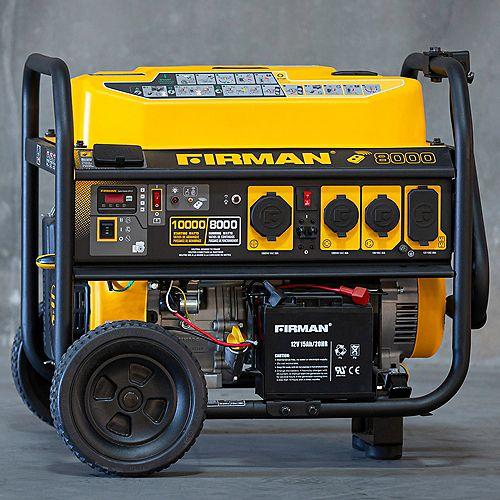 10000/8000W 50A 120/240V Démarreur à Distance Génératrice Portative Certifiée cETL avec Kit de Roues