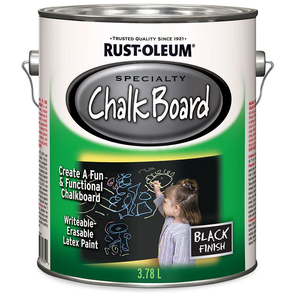Rust-Oleum Specialty Chalk Board Paint In Black, 3.78 L