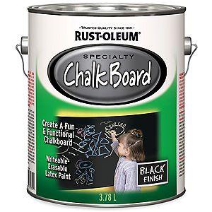 Peinture à tableau blanc et tableau noir