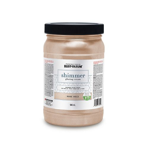 Shimmer Glazing Cream In Rose Gold, 946 mL