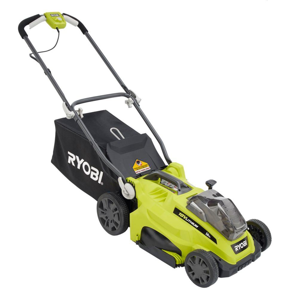 Ryobi P1100A 16-inch 18V ONE+ Lithium-Ion Cordless Battery Push Lawn Mower (Tool Only)