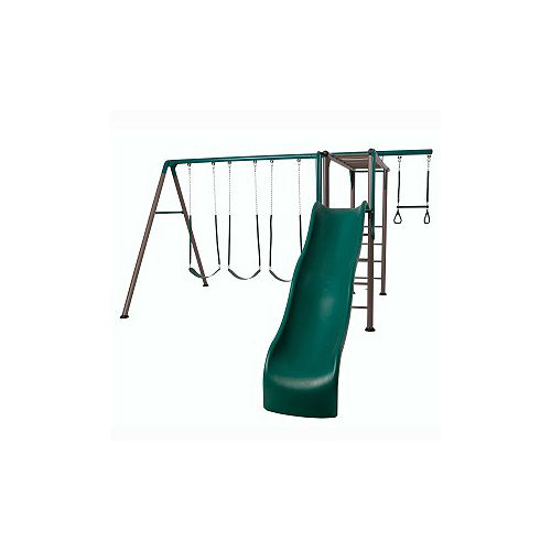 Monkey Bar Adventure Swing Set in Earthtone