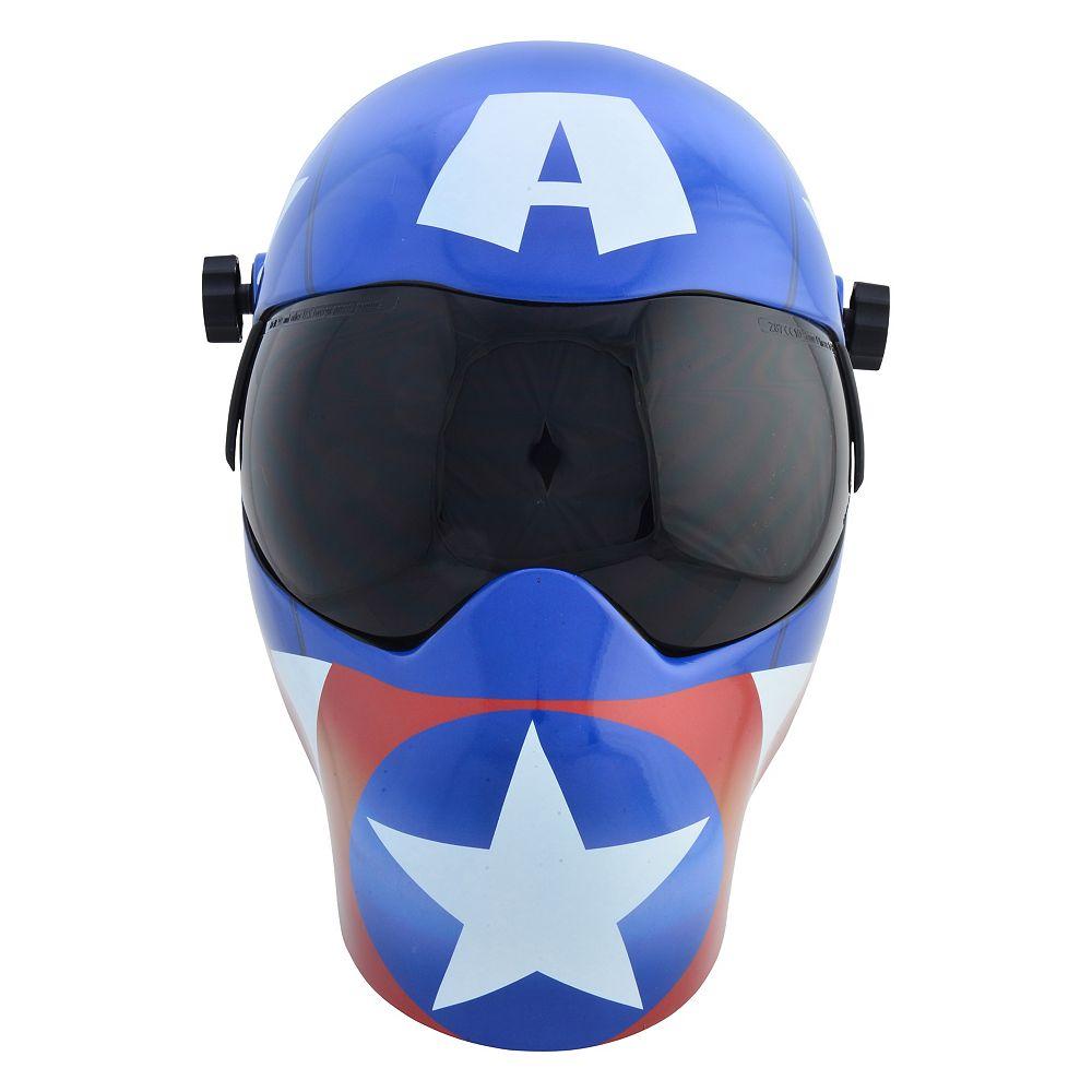 Save Phace Marvel<sup>©</sup> Captain America  Casque de soudeur auto-assombrissant