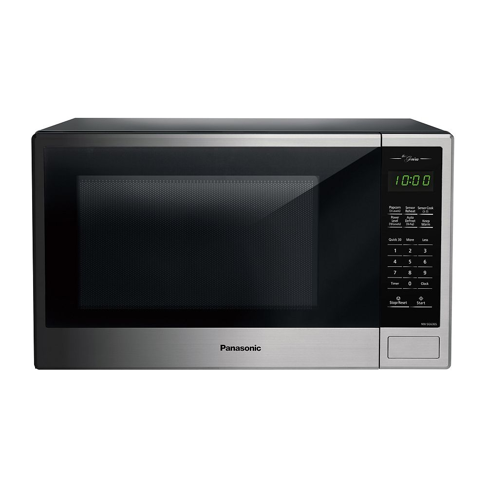 Panasonic Genius 1.3 cu. ft. 1,100W Countertop Microwave Oven in Stainless Steel Finish