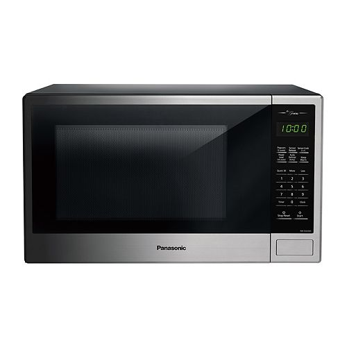 Genius 1.3 cu. ft. 1,100W Countertop Microwave Oven in Stainless Steel Finish