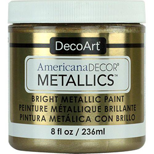 Peinture métallique DecoArt Or champagne 8oz