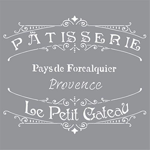 Stencil 12 inch x 12 inch French Bakery