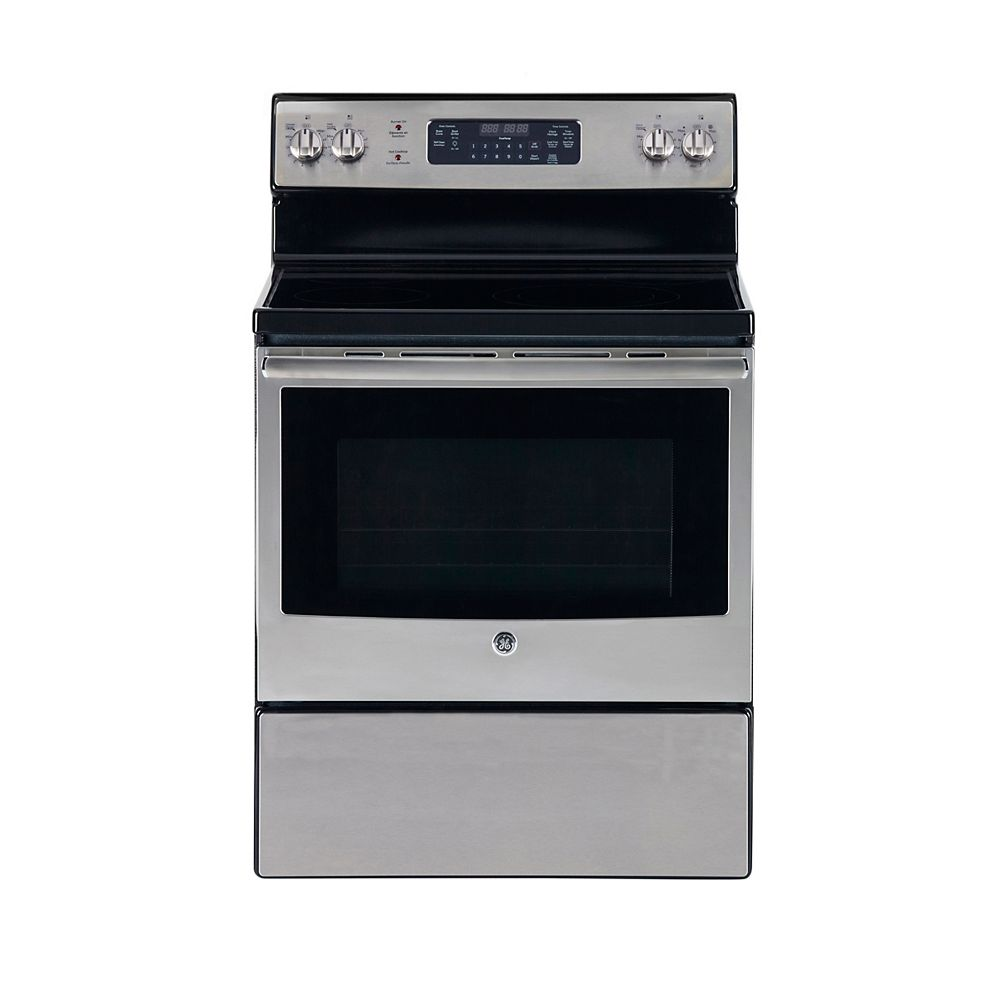 GE 30-inch 5.5 cu. ft. Single Oven Electric Range with Self-Cleaning Oven in Stainless Steel