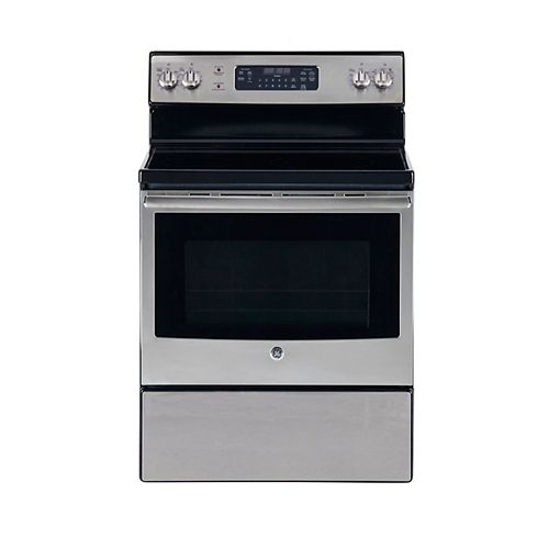 30-inch 5.5 cu. ft. Single Oven Electric Range with Self-Cleaning Oven in Stainless Steel