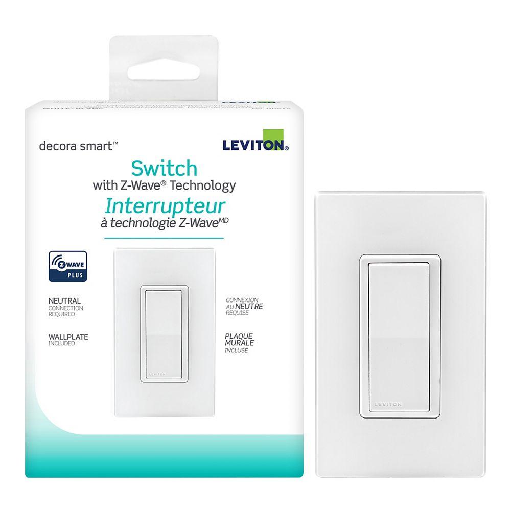 Leviton Decora 15A Smart with Z-Wave Plus Technology Switch