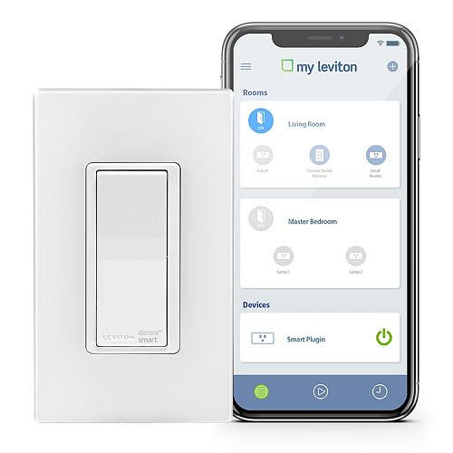 Switch with Wi-Fi Technology in White (Screwless Wallplate Included)