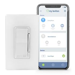 Leviton Dimmer with Wi-Fi Technology in White (Screwless Wallplate Included)