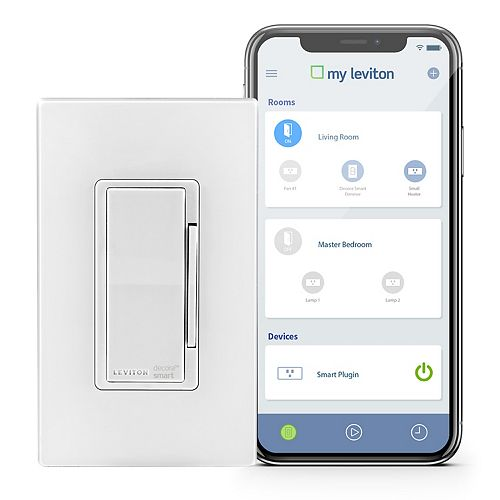 Dimmer with Wi-Fi Technology in White (Screwless Wallplate Included)