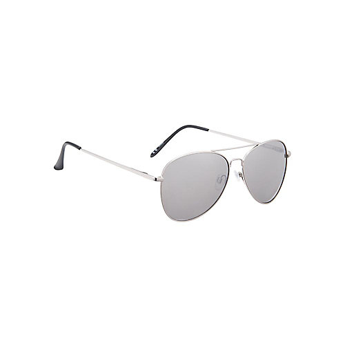 Silver Aviator with Black Arms/Lens