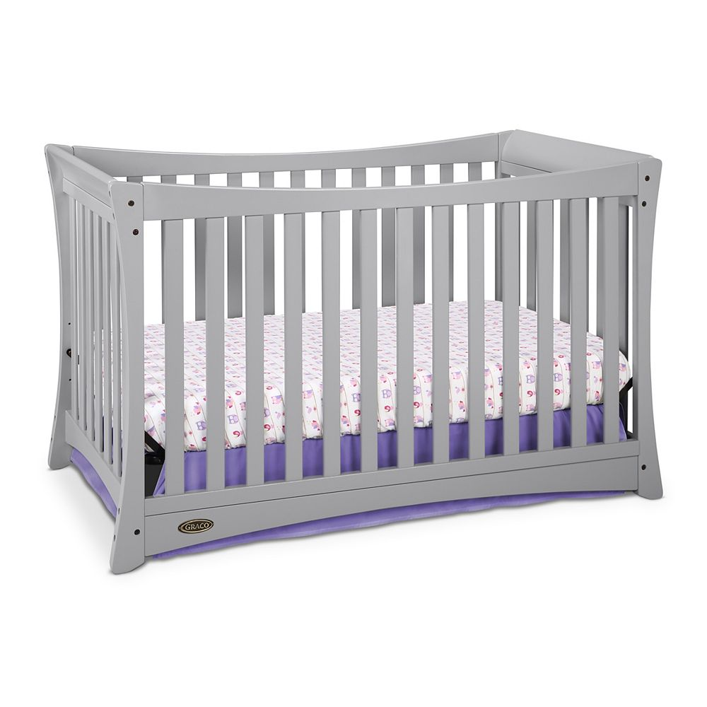 Graco Tatum Convert Crib-Pebble Grey