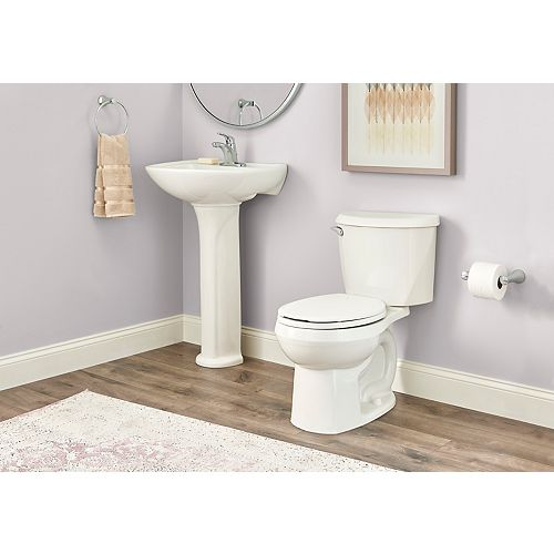 Reliant 4.8 LPF 1.28 GPF Single Flush Round Front Toilet in White