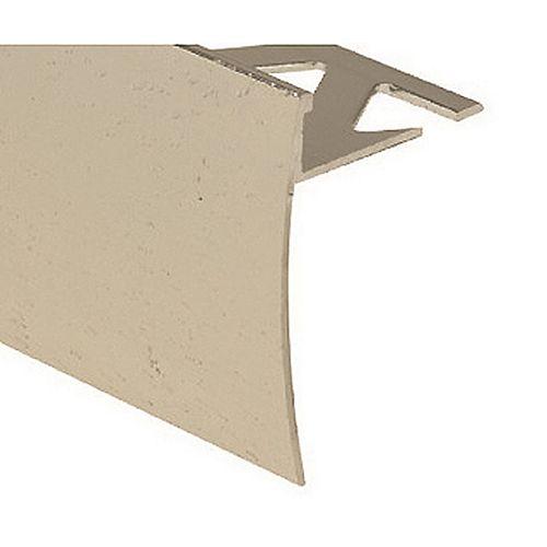 PROVA Nez de marche carrelé, 3/8 po (10 mm), 6 pi, martelé, transparent
