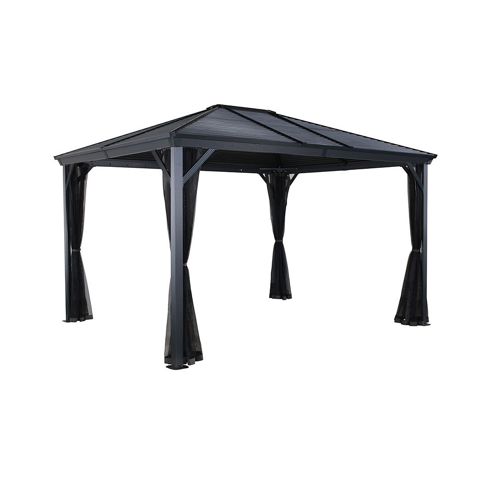 Sojag Ventura 10 ft. x 12 ft. Sun Shelter in Charcoal