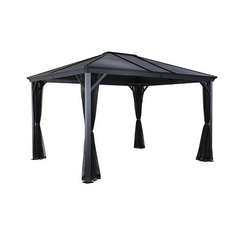 Ventura 10 ft. x 14 ft. Sun Shelter in Charcoal