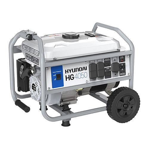 4,050W Gas Powered Portable Generator with Wheel Kit