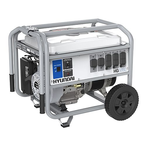 6,850W Gas Powered Portable Generator with Wheel Kit