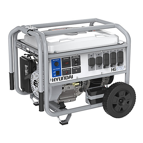 8,750W Electric Start Gas Powered Portable Generator with Wheel Kit