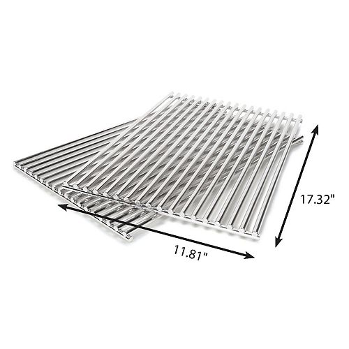Stainless Steel Rod Cooking Grate Set Compatible with Spirit 300