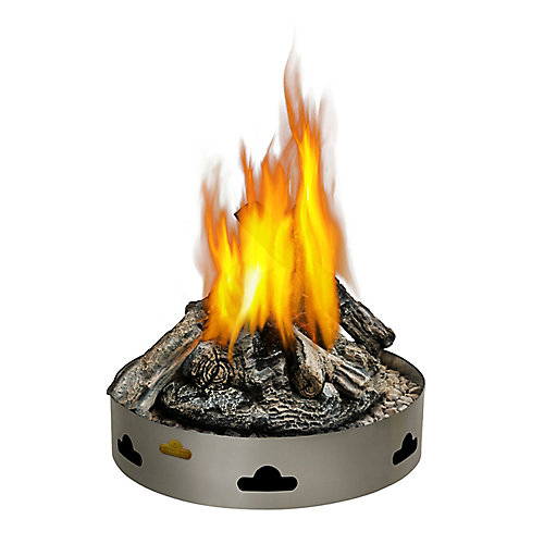 Patioflame Natural Gas Fire Pit with Logs