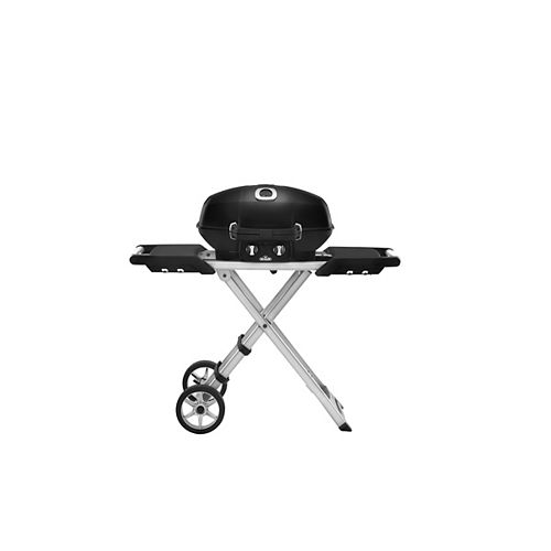 PRO TravelQ Portable BBQ with Scissor Cart in Black