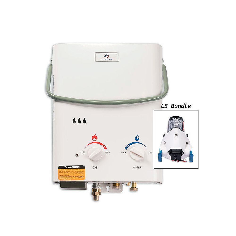 Eccotemp Kit chauffe-eau instantané Eccotemp L5 (pompe 12v)