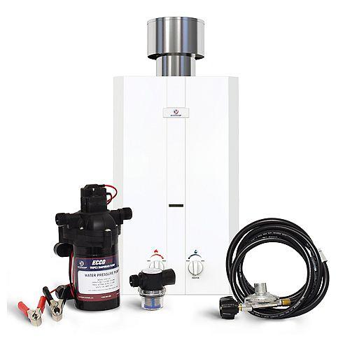 Kit chauffe-eau instantané Eccotemp L10 (pompe 12v & filtre)