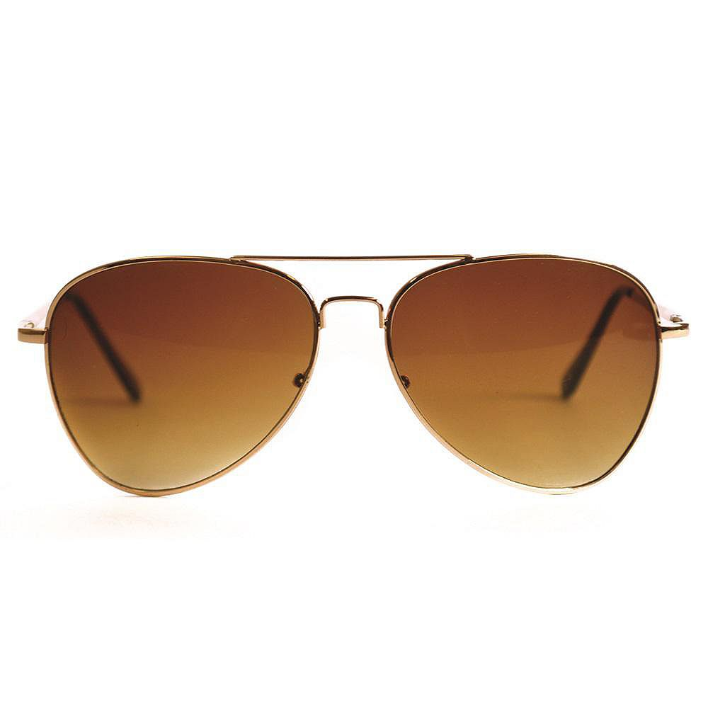 Shadedeye Gold Aviator  with Tortoise Arms Amber Lens