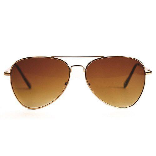 Shadedeye Aviateur d'or de avec la lentille d'ambre d'arme de tortue