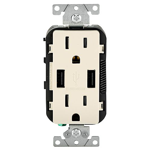 Leviton Decora Combination Duplex Receptacle/Outlet and USB Charger