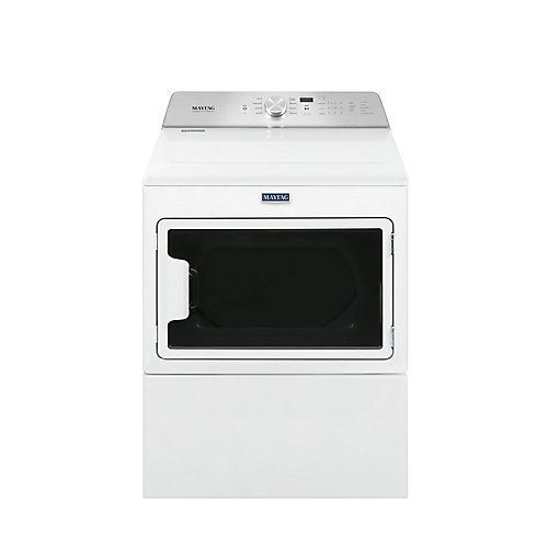 7.4 cu. ft. Large Capacity Front Load Electric Dryer with IntelliDry Sensor in White