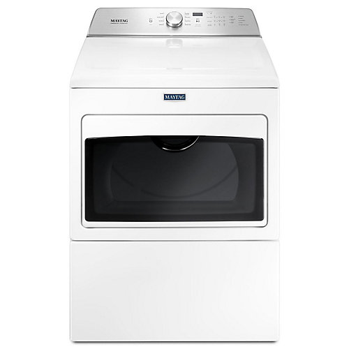 7.4 cu. ft. Large Capacity Gas Dryer with IntelliDry Sensor in White